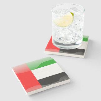 Porta-copo De Pedra Bandeira lustrosa de United Arab Emirates
