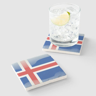 Porta-copo De Pedra Bandeira lustrosa islandêsa