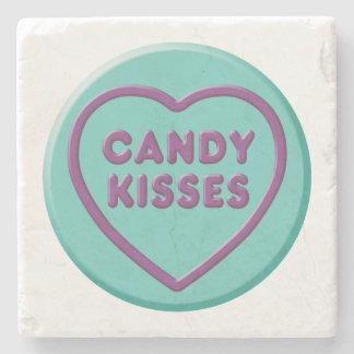Porta-copo De Pedra Beijos de doces