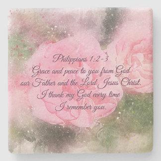 Porta-copo De Pedra Benevolência do 1:2 dos Philippians e paz a você,