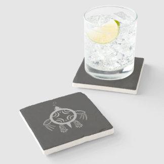 Porta-copo De Pedra Bolhas da tartaruga de mar