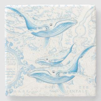 Porta-copo De Pedra Branco da família das baleias azuis