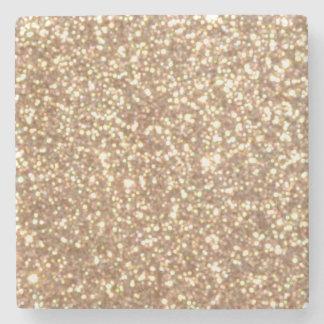 Porta-copo De Pedra Brilho metálico do ouro cor-de-rosa do cobre