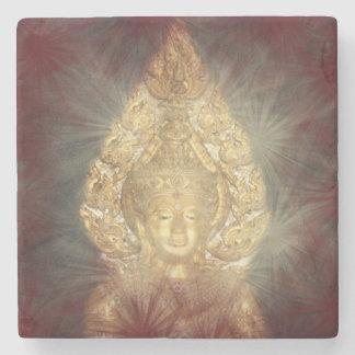 Porta-copo De Pedra buddha dourado