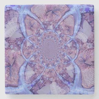 Porta-copo De Pedra Caleidoscópio roxo abstrato bonito