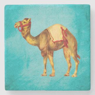 Porta-copo De Pedra Camelo do circo do vintage no Aqua