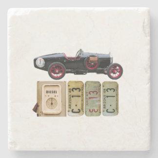Porta-copo De Pedra Carro vintage preto