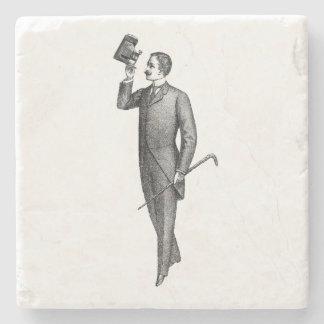 Porta-copo De Pedra Cavalheiro Selfie do Victorian