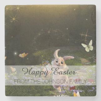 Porta-copo De Pedra Cena mágica do coelhinho da Páscoa da fantasia