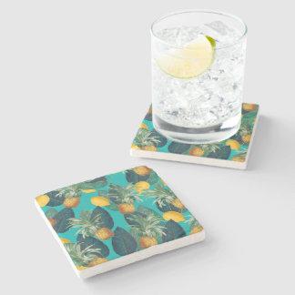 Porta-copo De Pedra cerceta do pineaple e dos limões