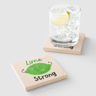 Porta-copo De Pedra Chalaça positiva do limão - limão forte
