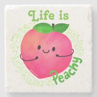 Porta-copo De Pedra Chalaça positiva do pêssego - Peachy