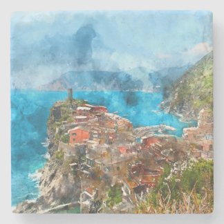 Porta-copo De Pedra Cinque Terre Italia no Riviera italiano