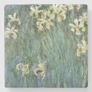 Porta-copo De Pedra Claude Monet   as íris amarelas