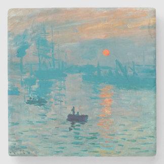 Porta-copo De Pedra CLAUDE MONET - impressão, nascer do sol 1872