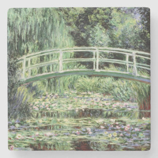 Porta-copo De Pedra Claude Monet | Waterlilies branco, 1899