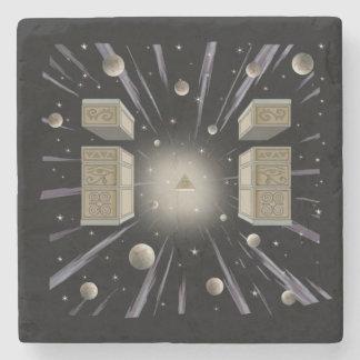 Porta-copo De Pedra Coaster. cósmico, espiritual, metafísico
