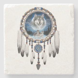 Porta-copo De Pedra Coletor ideal com fundo do lobo