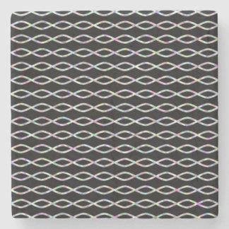 Porta-copo De Pedra Colorido Corrente-Como o teste padrão (fundo