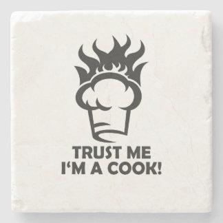 Porta-copo De Pedra Confie que eu mim é um cozinheiro!