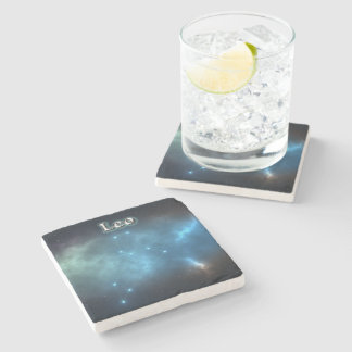 Porta-copo De Pedra Constelação de Leo