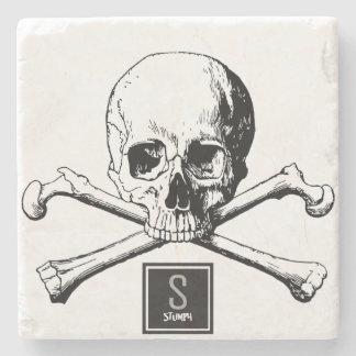 Porta-copo De Pedra crânio e ossos