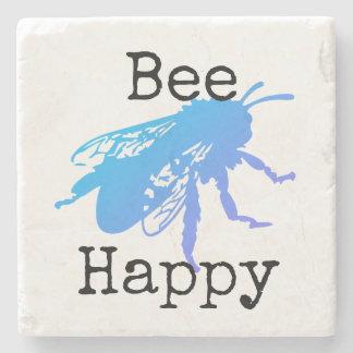 "Porta-copo De Pedra Da ""O azul feliz abelha"" desvanece-se a porta"