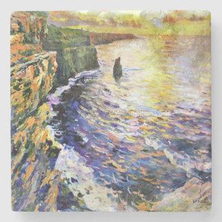 Porta-copo De Pedra Da pintura original, penhascos de Moher, Ireland,
