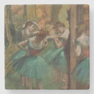 Porta-copo De Pedra Dançarinos de Edgar Degas cor-de-rosa e porta