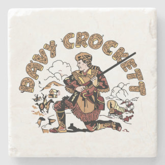 Porta-copo De Pedra Davy retro Crockett