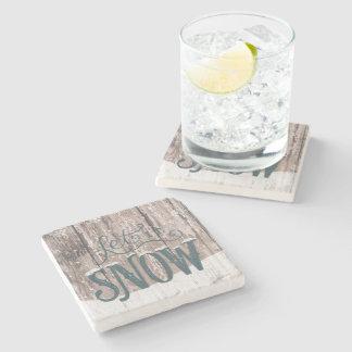 Porta-copo De Pedra deixais lhe para nevar porta copos do inverno do