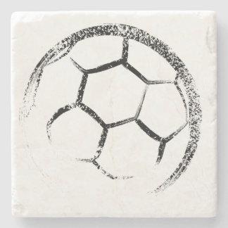 Porta-copo De Pedra Design do futebol do estilo do Grunge
