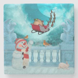 Porta-copo De Pedra Design do Natal, Papai Noel