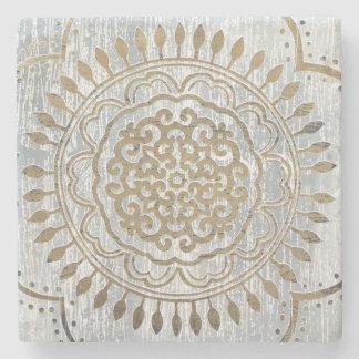 Porta-copo De Pedra Design do ouro da mandala