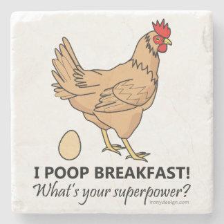 Porta-copo De Pedra Design engraçado do pequeno almoço dos tombadilhos