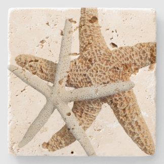 Porta-copo De Pedra Design tropical de duas estrelas do mar