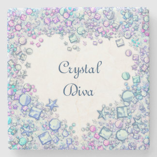Porta-copo De Pedra Diva de cristal