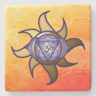 """Porta-copo De Pedra Do """"porta copos de Lotus da introspecção da ioga"""