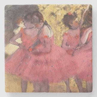 Porta-copo De Pedra Edgar Degas a porta copos cor-de-rosa dos