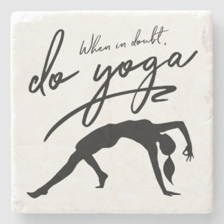 Porta-copo De Pedra Em caso de dúvida, faça a ioga