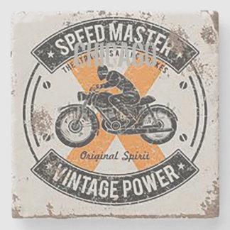 Porta-copo De Pedra Emblema de Speedmaster do vintage
