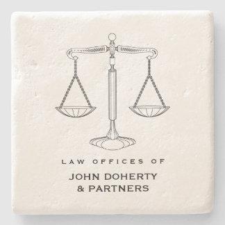 Porta-copo De Pedra Escalas elegantes de presentes da lei de justiça  
