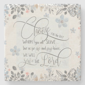 Porta-copo De Pedra Escolha quem você servirá - 24:15 de Joshua