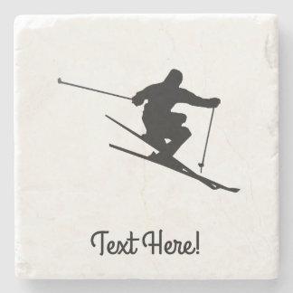 Porta-copo De Pedra Esquiador