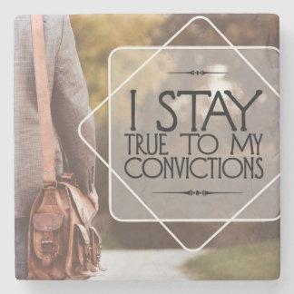 Porta-copo De Pedra Estada verdadeira a minhas convicções