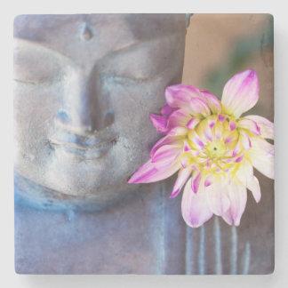 Porta-copo De Pedra Estátua de Buddha com dália