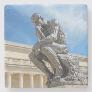 Porta-copo De Pedra Estátua do pensador de Rodin
