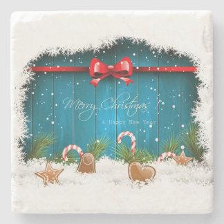 Porta-copo De Pedra Feliz Natal e feliz ano novo