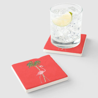 Porta-copo De Pedra Flamingo do Natal