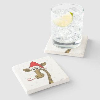 Porta-copo De Pedra Girafa do Natal
